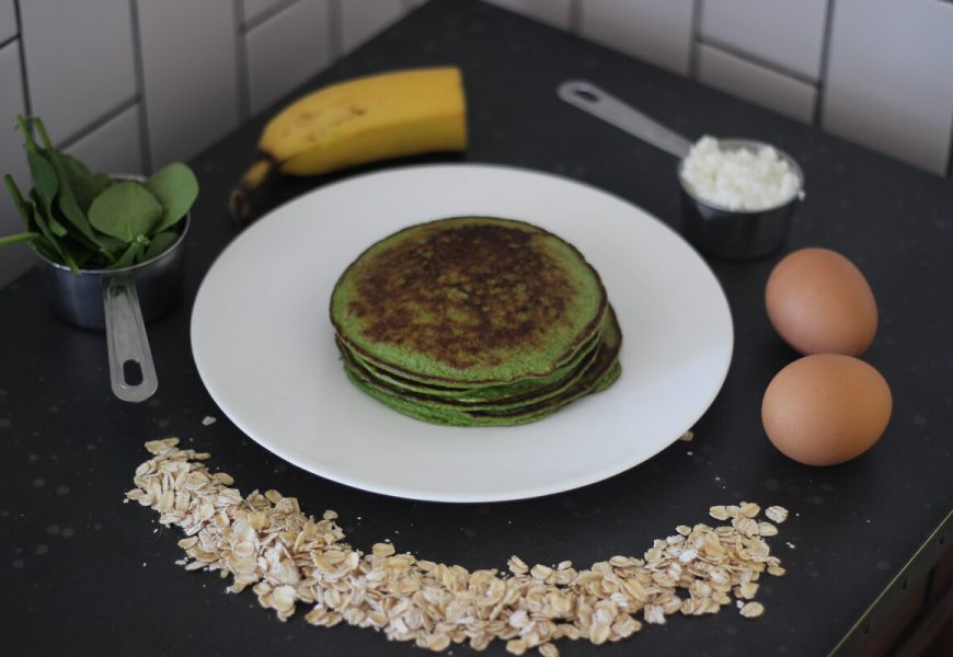 5 Ingredient {Green} Protein Pancakes